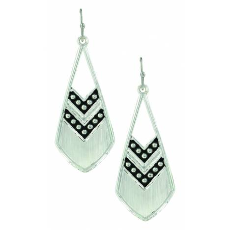 Montana Silver Odds are Chevron Feather Earrings
