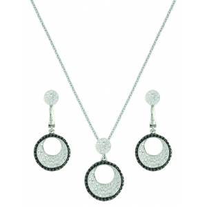 Montana Silver Pierced Circle Jewelry Set