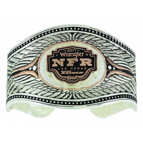 Montana Silver Rising NFR Shield Cuff Bracelet