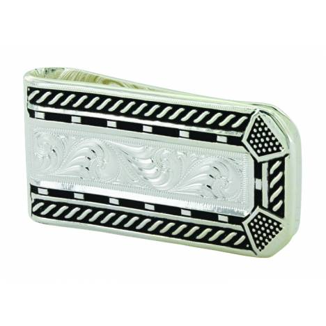 Montana Silver Roped Horseshoe Nail Head Money Clip