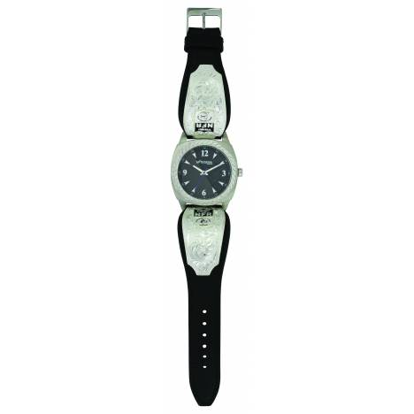 Montana Silver Stroke of Midnight 2017 NFR Leather Band Watch