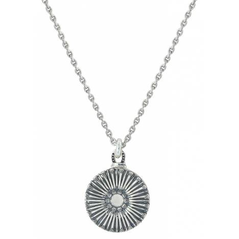 Montana Silver Sunflower Horseshoe Nail Locket Necklace