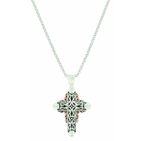 Montana Silver Sunset Glow Filigree Cross Necklace