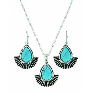 Montana Silver Twirling Turquoise Jewelry Set