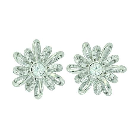 Montana Silver Twisted Tinsel Bow Stud Earrings