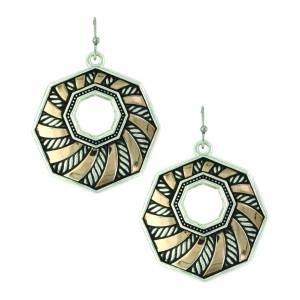 Montana Silver Whirling Sunset Rays Earrings