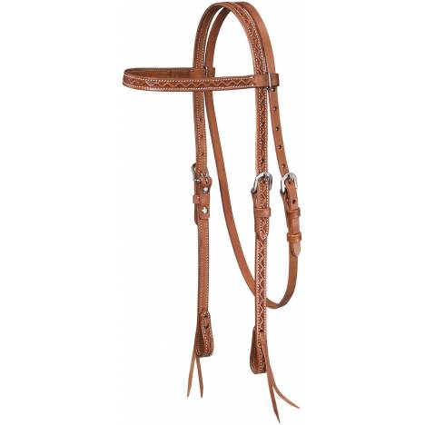 Tough-1 Zig Zag Tool Browband Headstall with Tie Ends