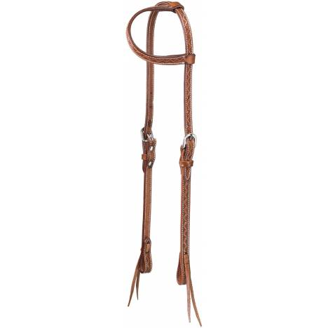 Tough-1 Zig Zag Tool One Ear Headstall with Tie Ends
