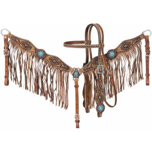 Tough-1 Selena Browband Headstall and Breastcollar Set