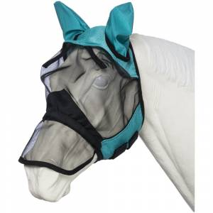 Tough-1 Deluxe Comfort Mesh Fly Mask With Mesh Nose
