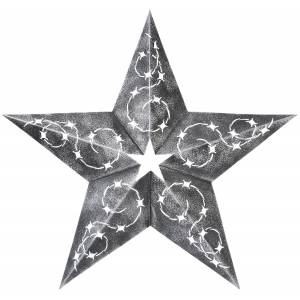 Star Cutout  With Design 18