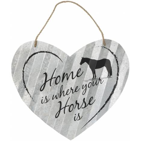 "Heart Sign 20"" - Home Is Where Horse"