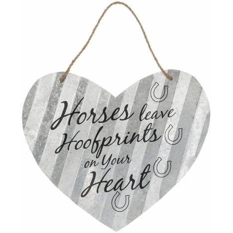 """Heart Sign 20"""" - Horses Leave"""
