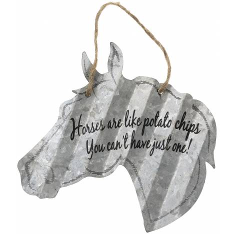 "Horse Sign 5"" - Horses Are Like Potato Chips"