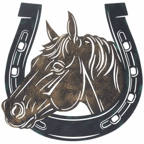 "Horse/Horseshoe Sign 13"" -"