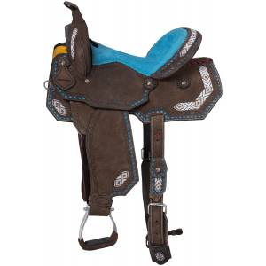 Tough-1 Sonora Buckstitch Barrel Saddle