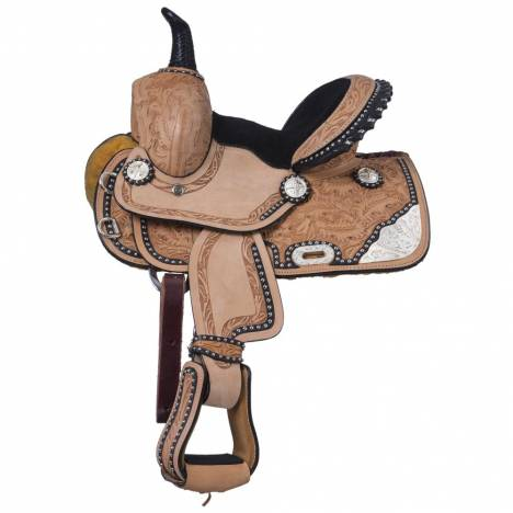 Silver Royal Burn The Breeze Miniature Barrel Saddle