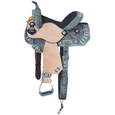 Silver Royal Chase Collection Barrel Saddle