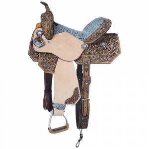 Silver Royal Skylar Collection Barrel Saddle