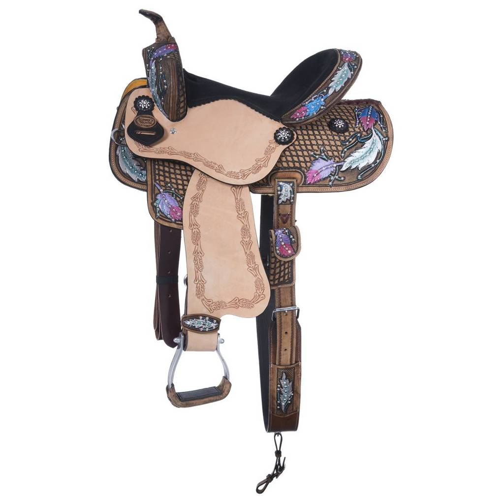 Silver Royal Delilah Collection Barrel Saddle