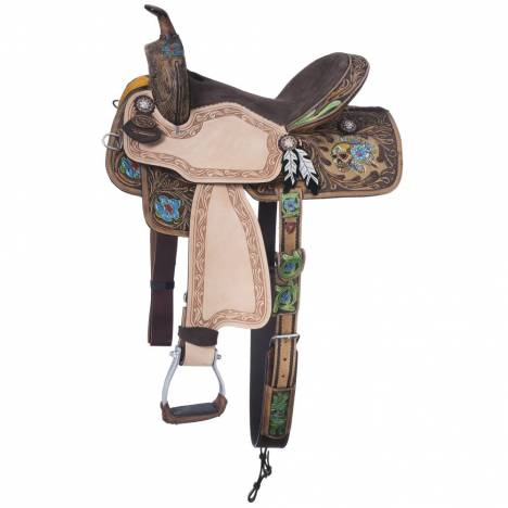 Silver Royal Salvador Barrel Saddle