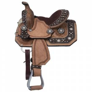Silver Royal High Noon Miniature Barrel Saddle