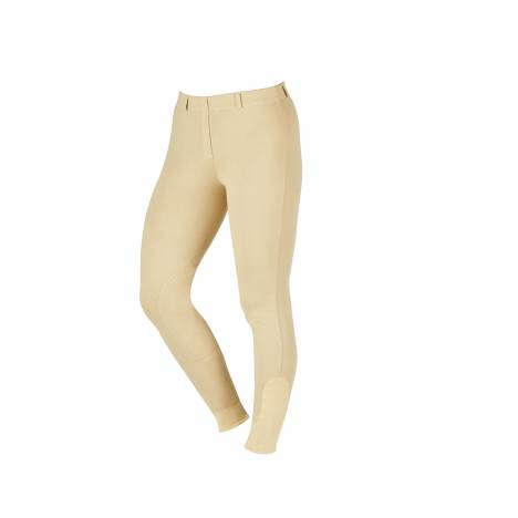 Saxon Knee Patch Pull On Schooling Breeches-Ladies