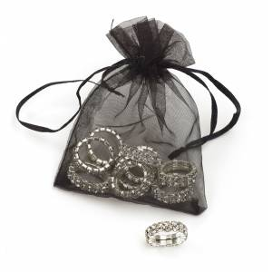 Rhinestone Braiding Bands  - Ten Pack