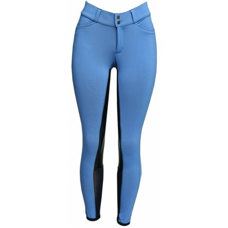Fits Free Flex Full Seat Front Zip Breech - Ladies - Bleu