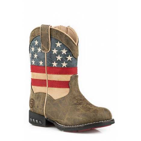 Roper Patriot Western Lights Lite Up - Toddler