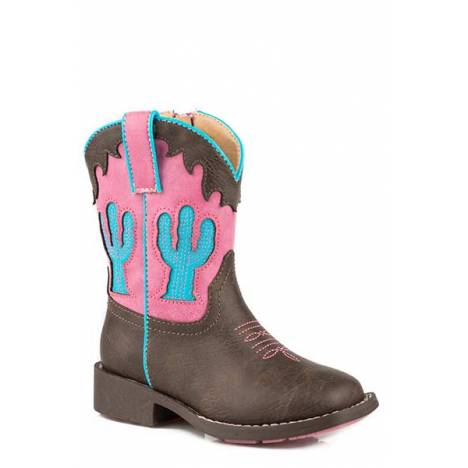 Roper Cactus Square Toe Fashion Faux Leather - Toddler