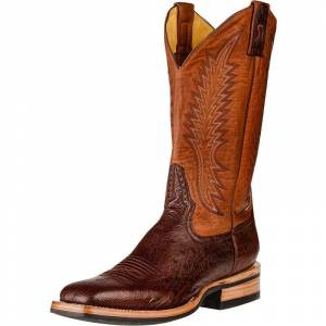 Rod Patrick Kango Tobacco Smooth Quill Ostrich RPM129 Boots - Mens