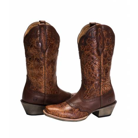 Noble Outfitters All Around T Toe Rose Boot - Ladies