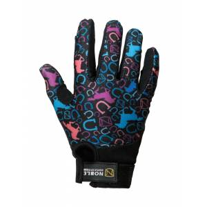 Noble Outfitters Perfect Fit Glove - Kids - Multi Running Horse