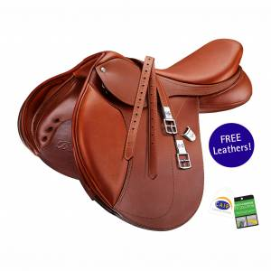 LIMITED EDITION! Bates Hunter Jumper Saddle with CAIR & FREE Leathers