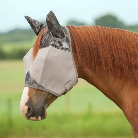Cashel Fly Mask with Ears - Grey Henna