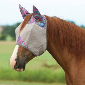 Cashel Fly Mask with Ears - Magenta Marble