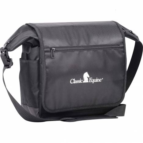 Classic Equine Messenger Bag - Black