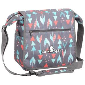 Classic Equine Messenger Bag - Grey Arrows