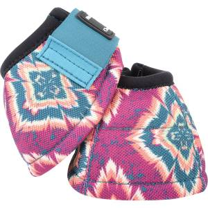 Classic Equine DyNo Turn Designer Line Bell Boots - Purple Posey