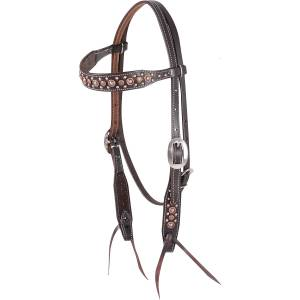 Martin Browband Headstall with Copper Dots