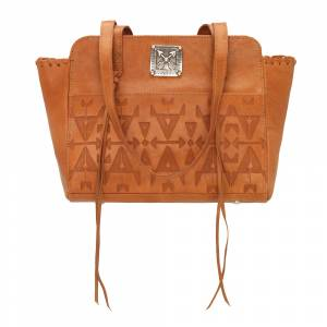 American West Crossed Arrow Zip Top Tote
