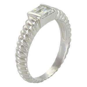 Montana Silversmiths Double Baguette Rope Ring