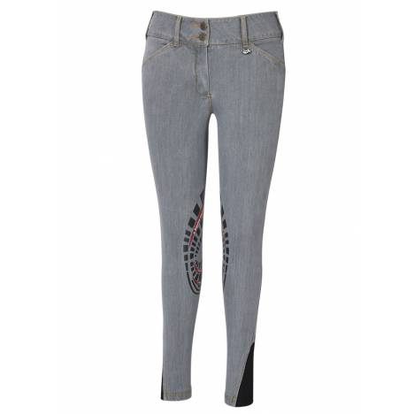 Equine Couture Calabasas Printed Silicon Patch Denim Jeans - Ladies
