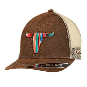 Ariat Mens Longhorn Ball Cap