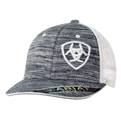 Ariat Youth Heather Offset Shield Logo Ball Cap