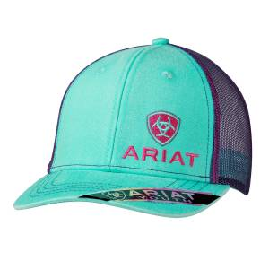 Ariat Youth Girls Offset Logo Ball Cap