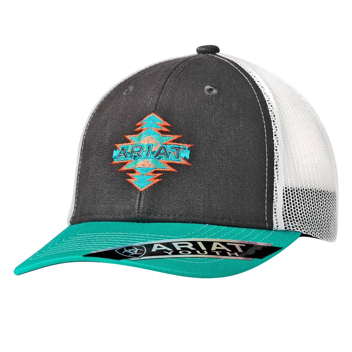 newest collection 6443f 46751 hot ariat ldssbmulti cactus wh hat 1512605 c69ab 06703  italy ariat youth  aztec logo ball cap 3d26b b09f0
