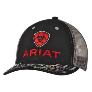 Ariat Youth Red Logo Ball Cap