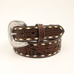 Ariat Floral Embossed Laced Belt - Mens